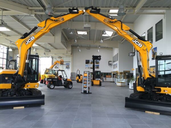 Showroom JCB Ateliers Caugant